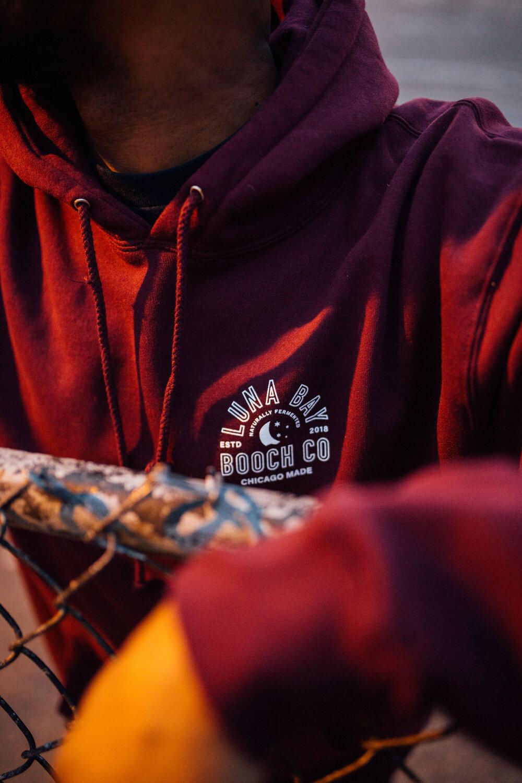 Logo Hoodie Maroon